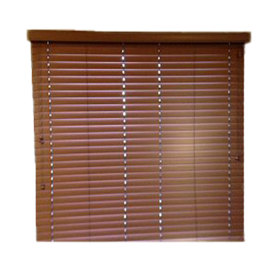 "2"" Faux Wood Blind: Teak (Call For Pricing)"
