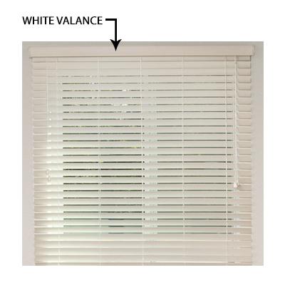 Valance for White Blind